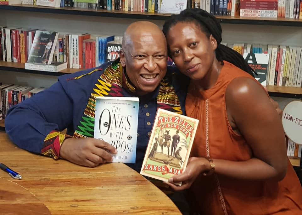 Nozizwe at Love Books for the launch of Prof Zake Mda's The Zulus of New York