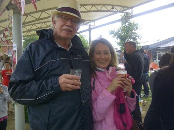 Michelle Connon-Roodt with her stepdad
