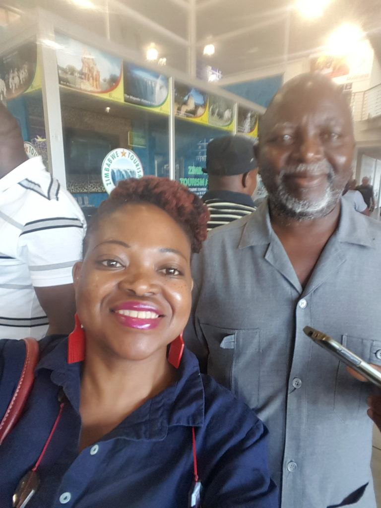 Sue Nyathi and her dad