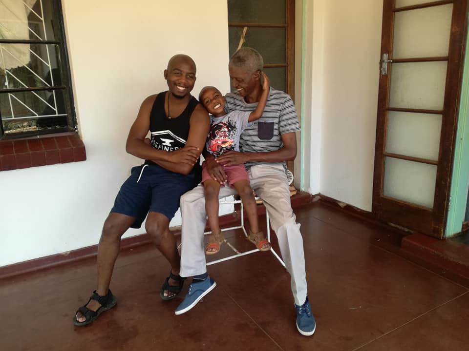 Three generations of Ndlovus (Tsholofelo, his dad and his son)