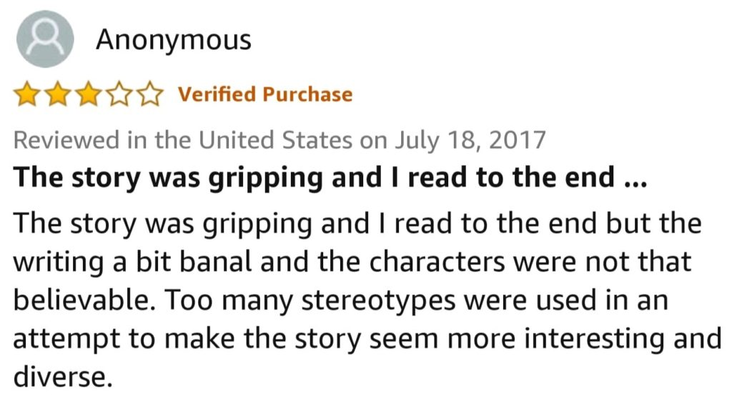Amazon Review of Things Unseen