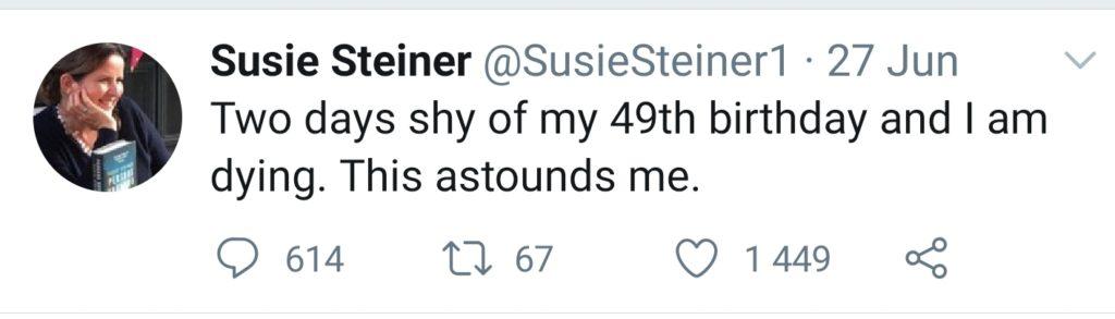 Tweet from Susie Steiner