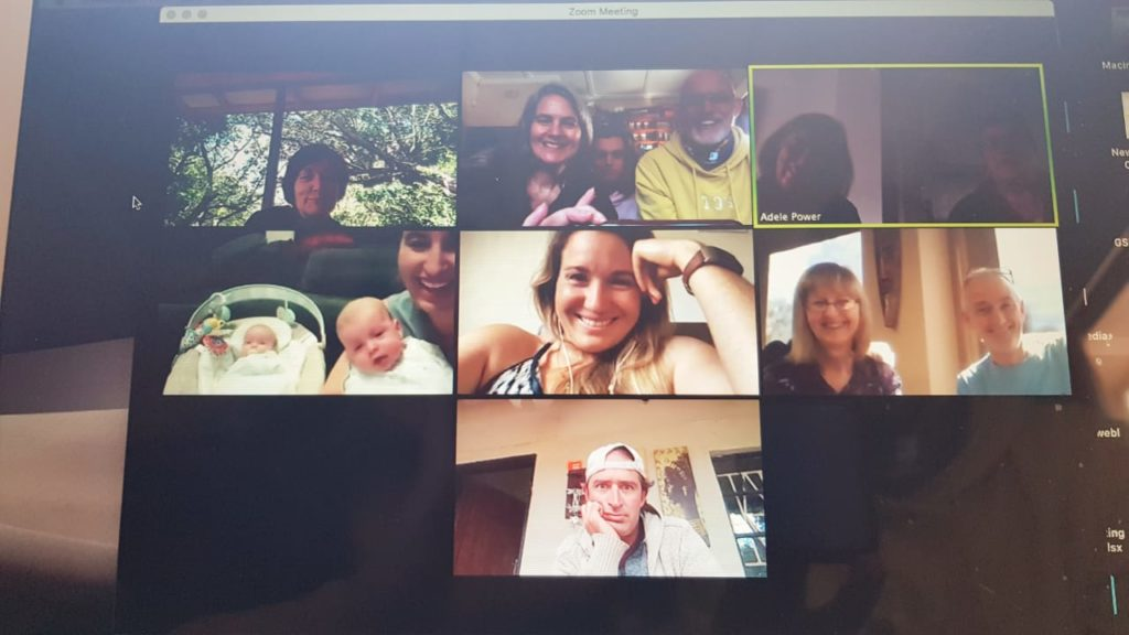 Zoom call with family