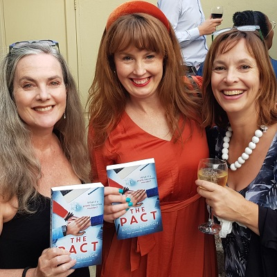 Amy and I with author Gail Schimmel at the launch of The Pact at Love Books Features